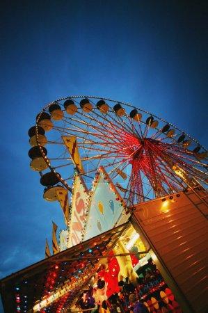 Evening At An Amusement Park