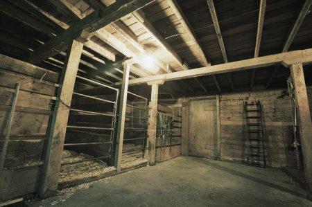 Inside Of A Barn