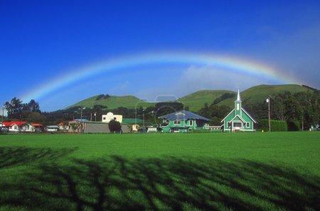 Rainbow Over The Village
