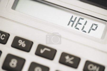 Photo pour Calculatrice Message - image libre de droit
