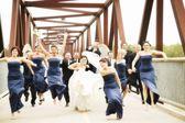 Bride, Groom, Bridesmaids And Groomsmen