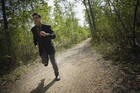 Jogging In A Suit