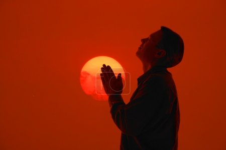 Photo for A Man In Prayer - Royalty Free Image