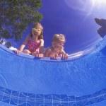 Children Peering Into A Pool...