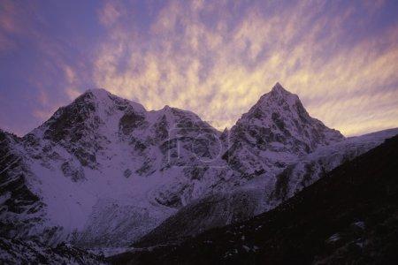 Snowy Mountain In Shadow
