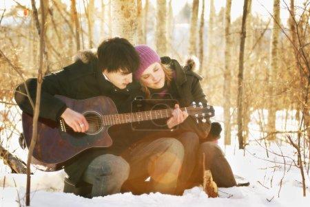Couple Listen To Music