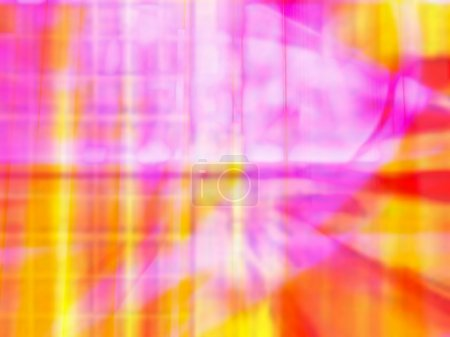 Vibrant Yellow Red And Pink Computer Generated Image