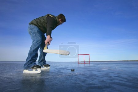 Playing Hockey Solo