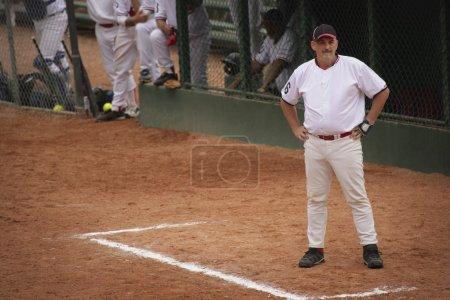 Baseball Player Waiting For Turn