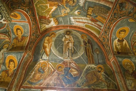 Religious Ceiling Paintings At Goreme Open Air Museum, Cappadocia, Turkey