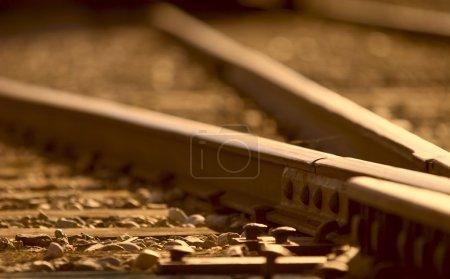 Closeup Of Tie On Train Track