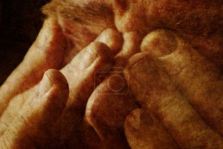 Photo pour Un homme ferme les yeux - image libre de droit
