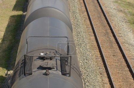 A Train Along Side Train Tracks