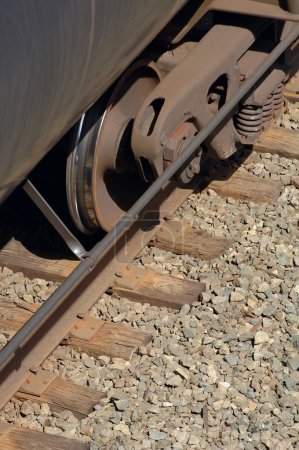 Wheels Of A Train Car