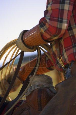 Closeup Of Cowboy With Lasso