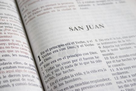 Book Of John In A Spanish Bible