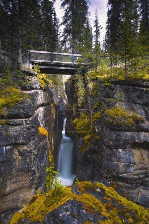 Maligne Canyon Waterfall Jasper National