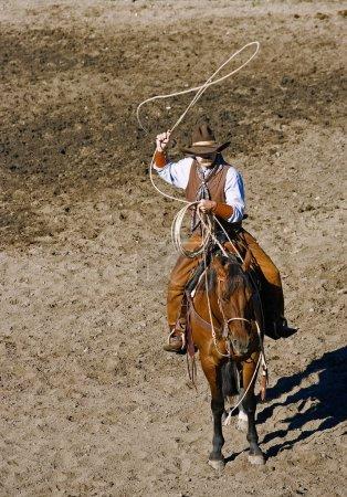 Foto de Vaquero con Lasso - Imagen libre de derechos
