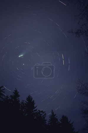 Comet Hyak And Star Trails