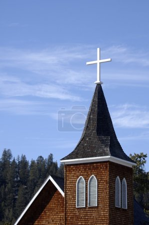 Photo for A Cross On A Church Spire - Royalty Free Image
