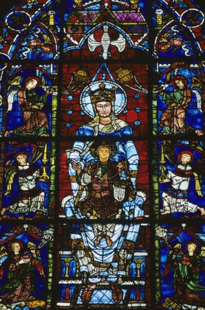 Stained Glass Window In Chartres Cathedral