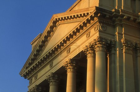 Columns And Fascia, Alberta Legislature, Edmonton, Canada