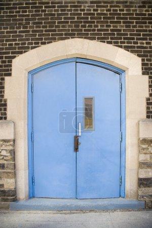 Blue Painted Double Door