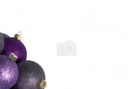 Photo for Purple Christmas Ornaments - Royalty Free Image
