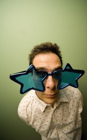 Man In Novelty Glasses