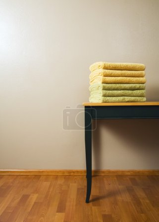 Stack Of Towels A Table...
