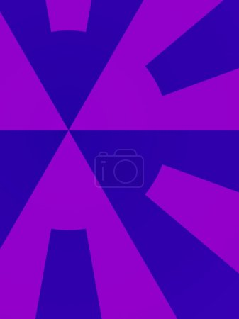 Purple And Blue Abstract