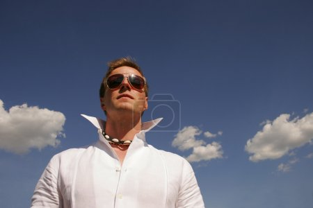 Photo for Man Wearing Sunglasses - Royalty Free Image