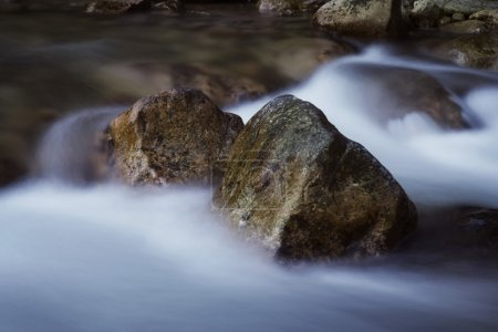 Water Moving Around Large Boulders