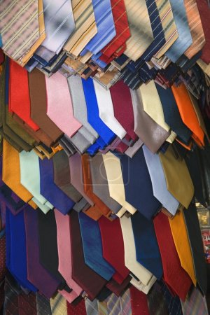 Multi-Coloured Neck Ties On Display