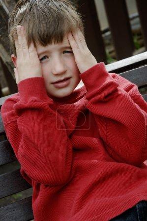 Discouraged Boy