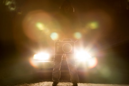 Photo for Standing In Front Of A Car - Royalty Free Image