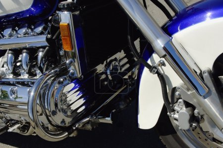 Closeup Of A Motorcycle