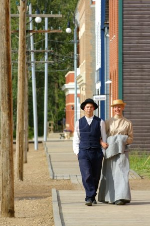 People In Period Costume In Fort Edmonton, Alberta
