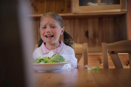 Girl Crying Over Dinner