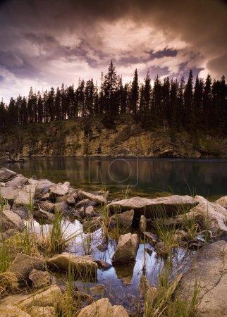 Scenic Rocky Lake
