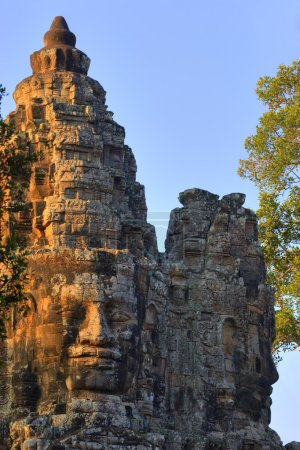 Stone Heads On Gate, Angkor Thom, Siem Reap, Cambodia
