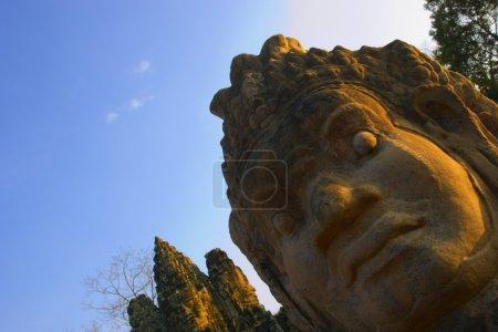 Buddhist Head Statues, Angkor Wat Temple Complex, Angkor Thom, Cambodia