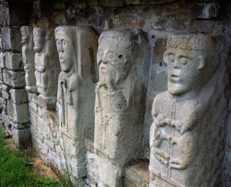 Carved Figures Of Churchmen On White Island, Lough Erne, Co. Fermanagh