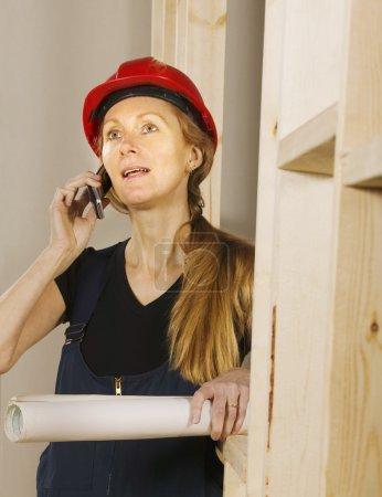 Tradeswoman At Work