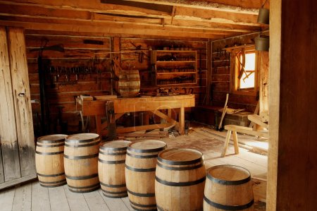 Historical Carpentry Shop In Fort Edmonton, Alberta