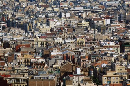 Overview Of Houses In Barcelona, Spain
