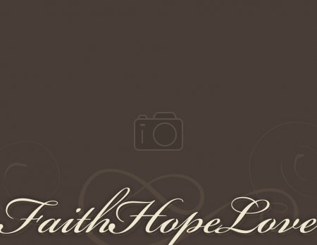 Photo for Faith, Hope And Love Background - Royalty Free Image
