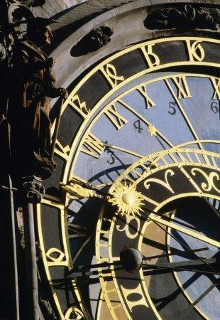 Detail Of The Astronomical Clock On Prague's Town Hall, Prague, Czech Republic