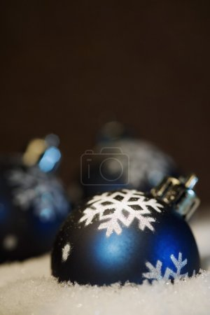 Photo for Close-up Of Blue Christmas Balls - Royalty Free Image