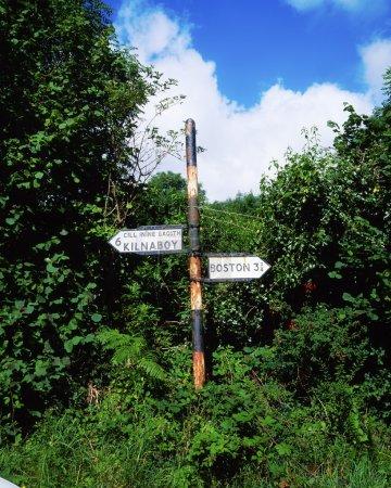 Photo pour Poteau indicateur, comté de Clare, Irlande - image libre de droit